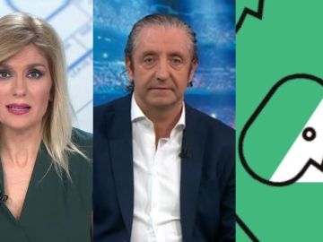 Sandra Golpe, Josep Pedrerol y el logo de 'Levanta la cabeza'