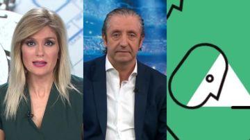 Sandra Golpe, Josep Pedrerol y el logo de 'Levanta la cabeza'