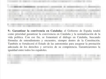 Punto 9 acuerdo Sánchez e Iglesias