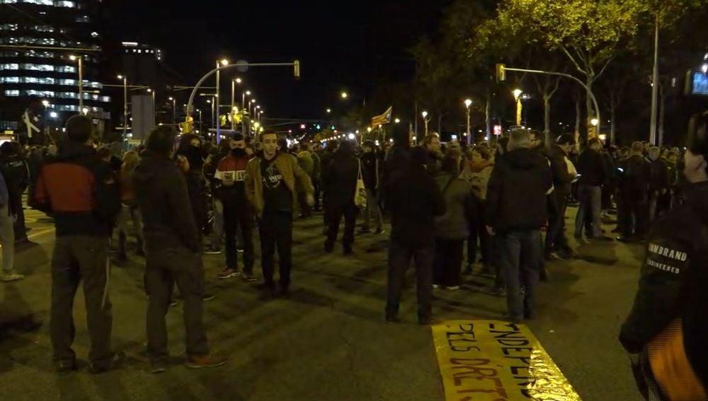 Cortes en las principales calles de Barcelona