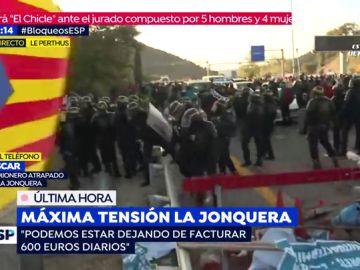 Máxima tensión en La Jonquera.