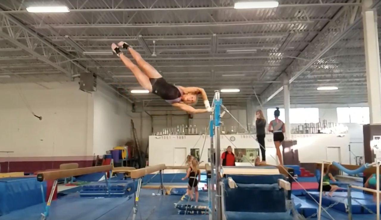 La gimnasta Melanie Coleman