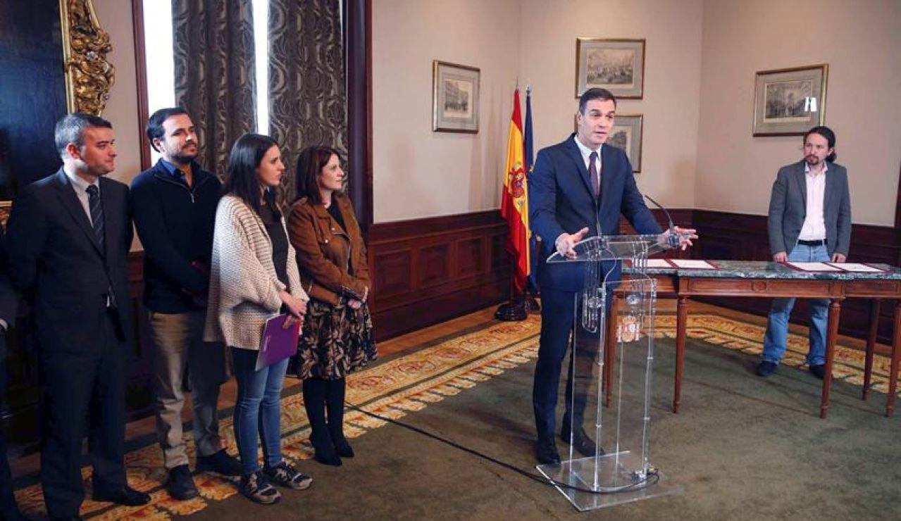 Gobierno de coalición entre PSOE y Unidas Podemos