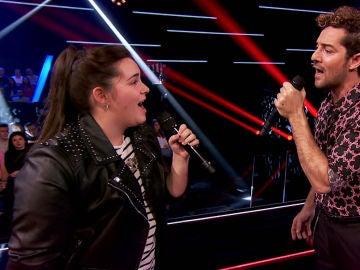 Esperanza Bonelo canta 'Culpable' junto a David Bisbal en las Batallas de 'La Voz Kids'