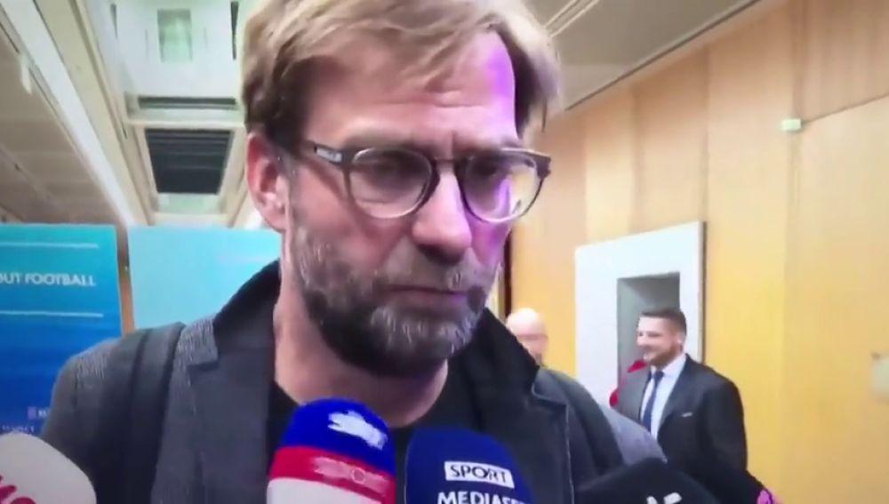 La genial reacción de Klopp cuando le preguntan por 'Pepe' Guardiola