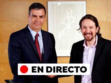 Acuerdo Sánchez Iglesias: Comparecencia de Pedro Sánchez y Pablo Iglesias para anunciar un acuerdo PSOE-Unidas Podemos, en directo