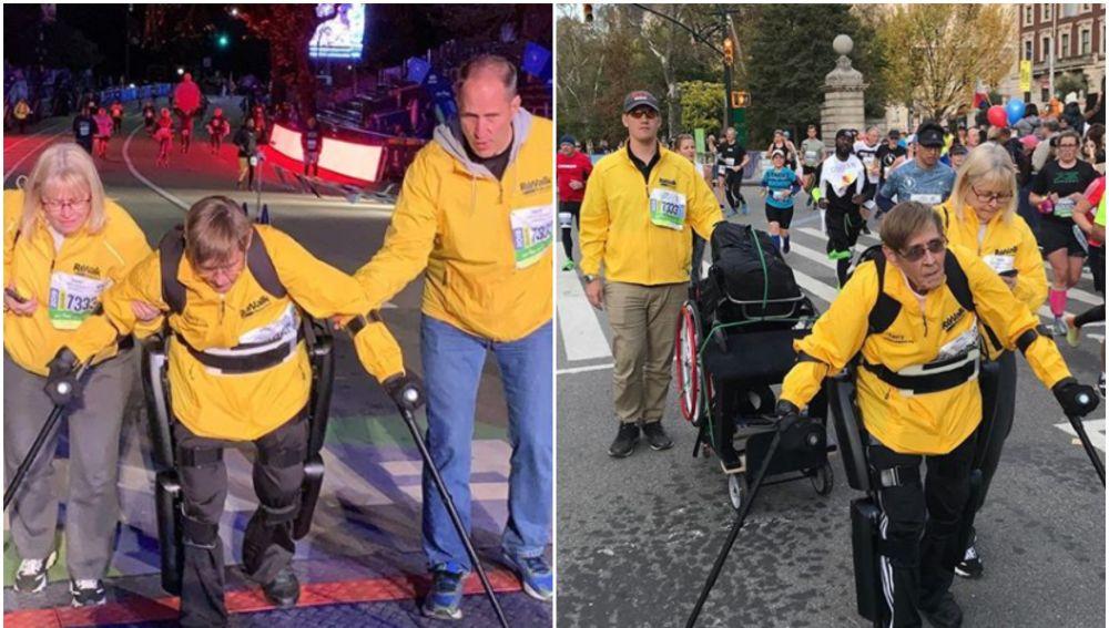 Terry Hannigan Vereline durante el maratón de Nueva York