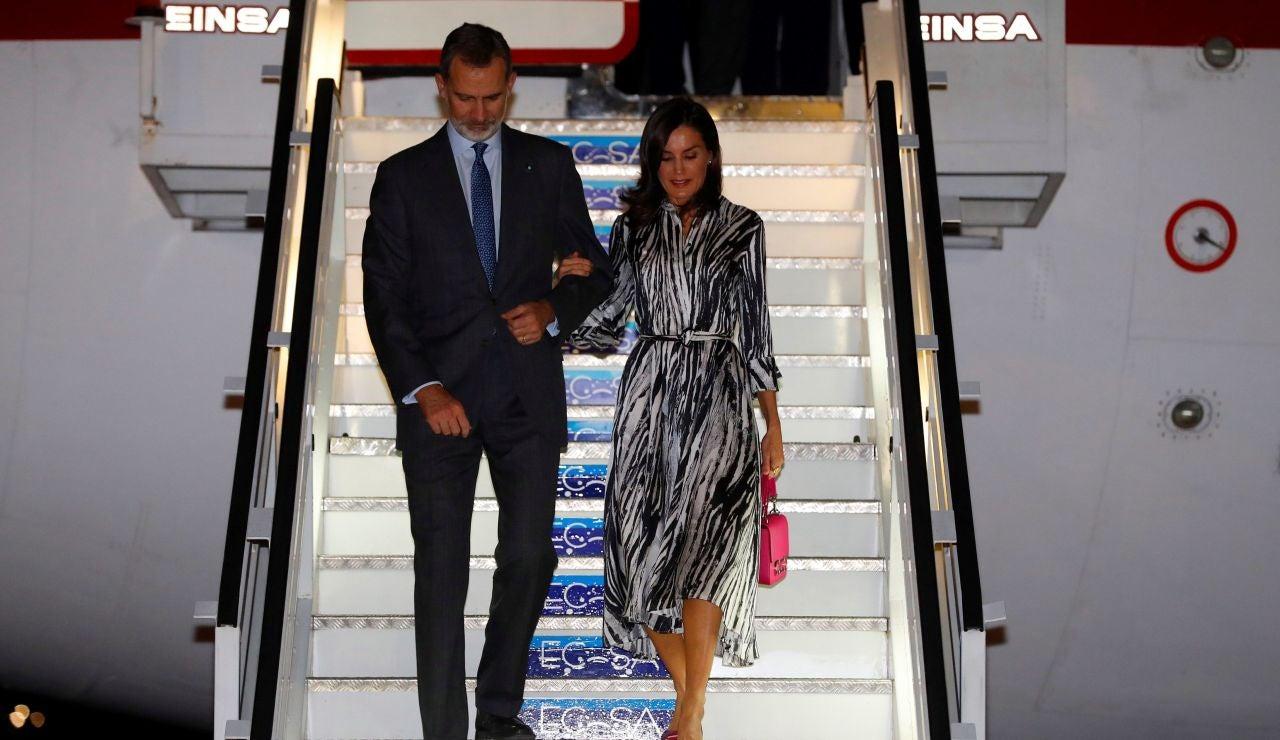 Los Reyes a su llegada a Cuba