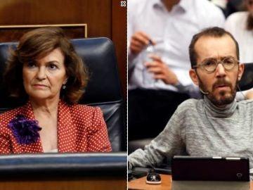 Carmen Calvo y Pablo Echenique