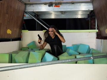 Cristina Pedroche cae en una ingeniosa trampa para ladrones construída por 'El Hormiguero 3.0'
