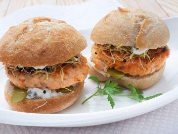 Hamburguesas de salmón, con Joseba Arguiñano