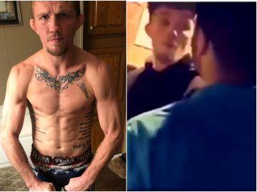 La brutal pelea de Jason Knight en un baño
