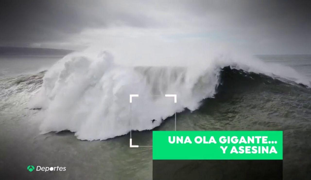 Una ola gigante en Nazaré