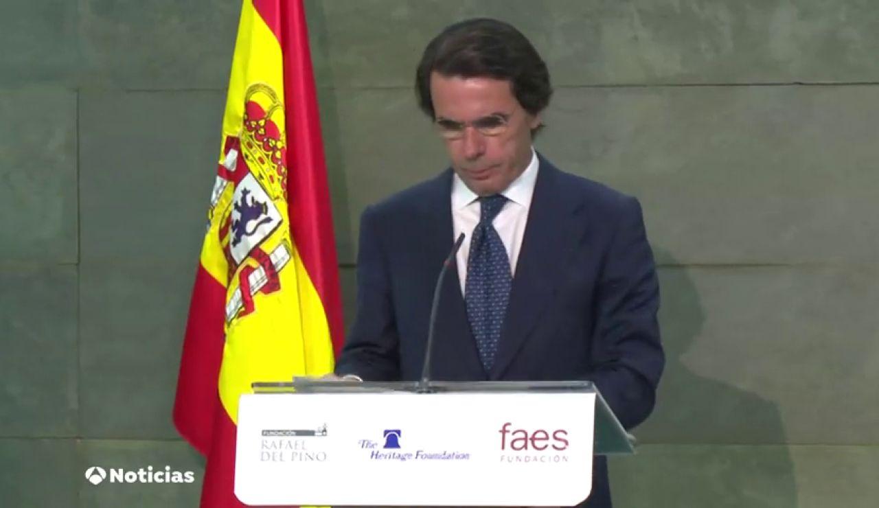 """Aznar: """"Comparado con lo que viene Frankenstein es un modelo de armonía"""""""