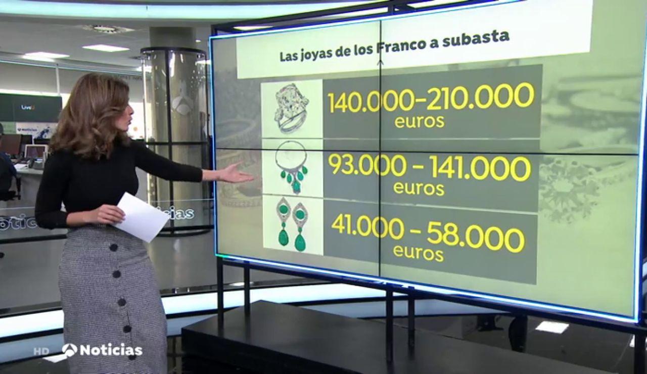 Las joyas de la familia Franco, a subasta por 400.000 euros