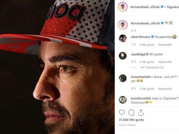 Fernando Alonso en Instagram