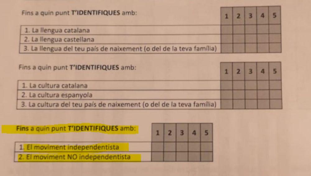 Encuesta a alumnos de Tarragona