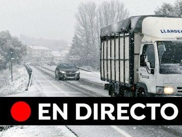Estado de las carreteras hoy: Consulta las carreteras cortadas por el temporal, en directo