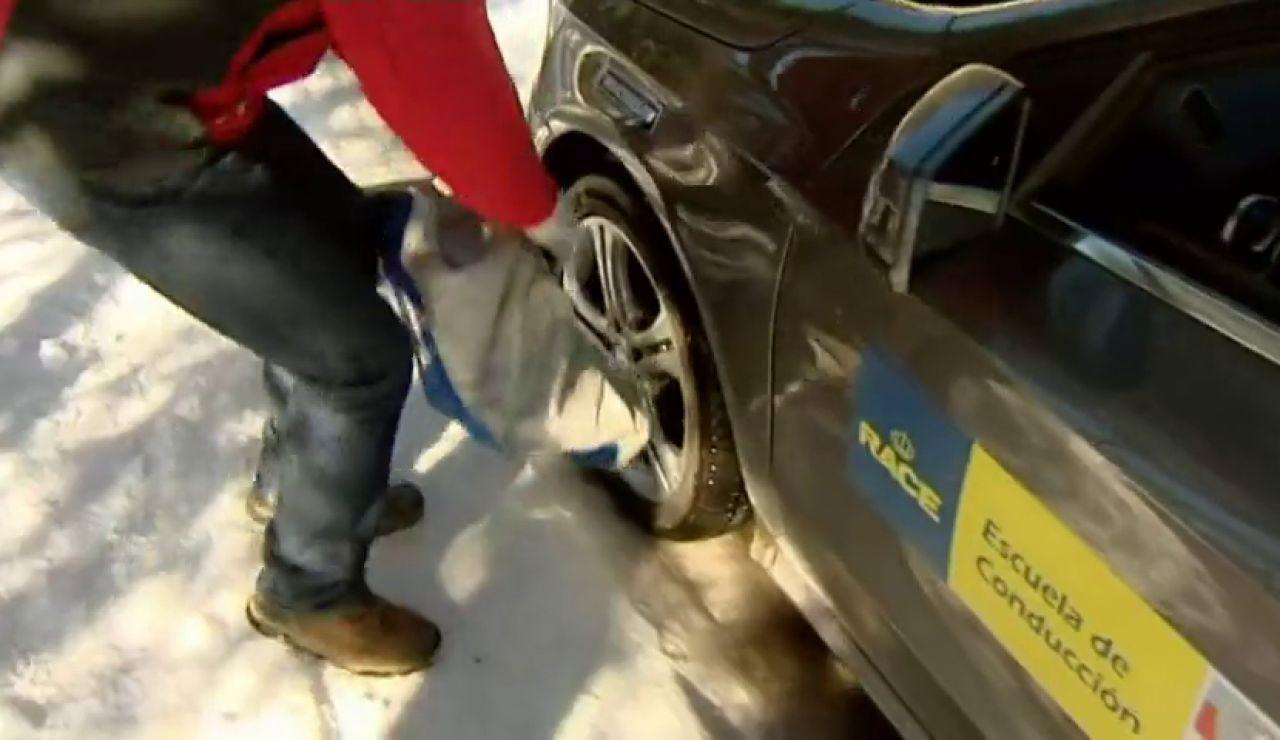 ¿Cómo se ponen las cadenas en las ruedas del coche?