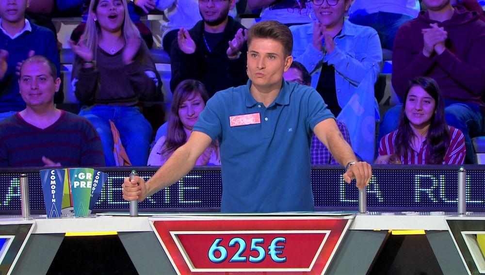 La final está en juego, Sergio se arriesga e intenta caer en el bote de 'La ruleta de la suerte'