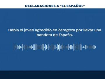 Agredido por llevar una bandera de España