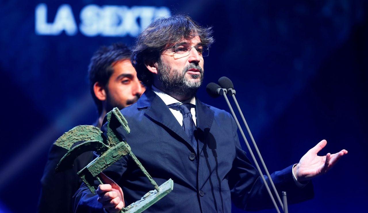 Jordi Évole recibe el Premio Ondas nacional de televisión al mejor programa de actualidad