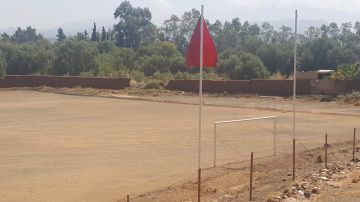 Campo de fútbol en Marruecos