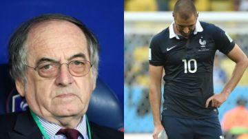El presidente de la Federación francesa y Benzema