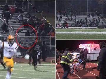 Impactante tiroteo durante un partido de fútbol americano