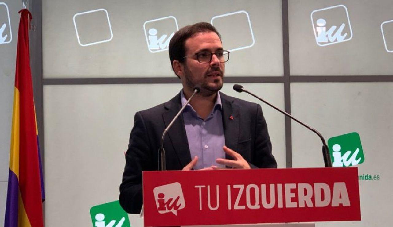 Alberto Garzón en la asamblea de IU