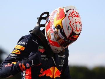 Verstappen, tras conseguir la pole en Brasil