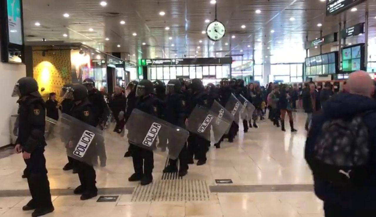 Los CDR convoca un bloqueo total en la Estación Sants de Barcelona