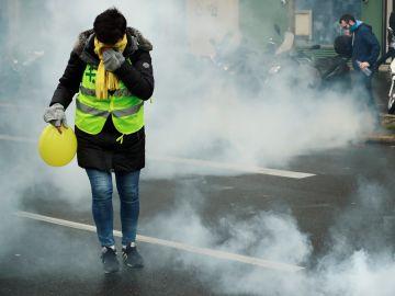 'Chalecos amarillos' en París