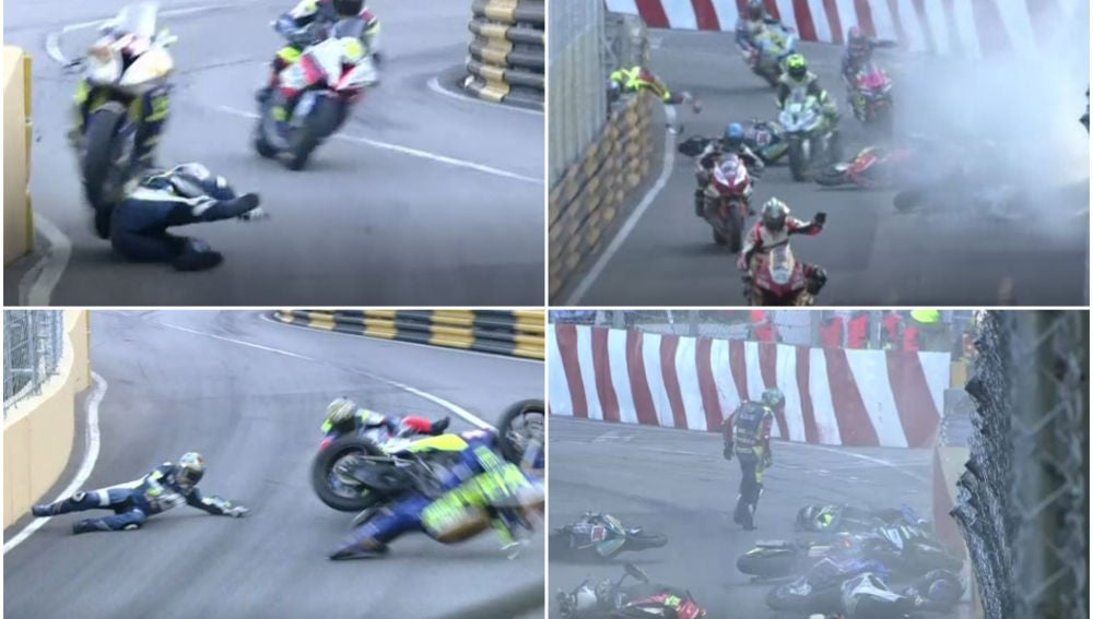 El tremendo accidente durante el GP de Macao