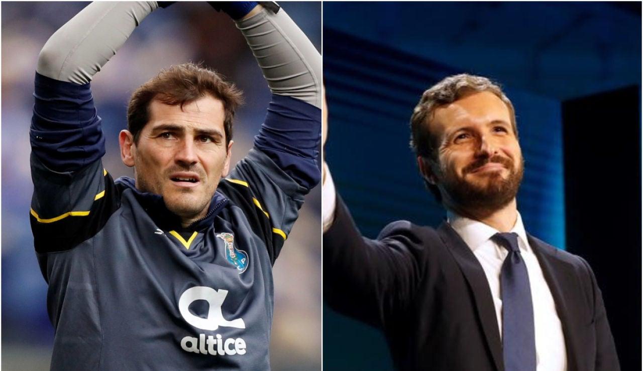Iker Casillas y Pablo Casado