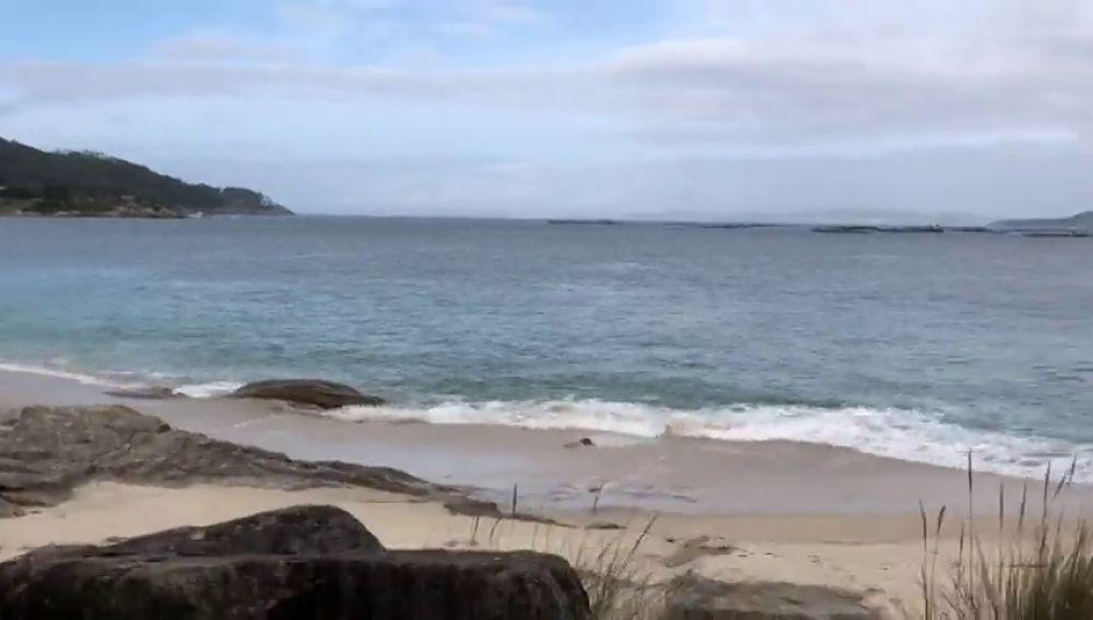 Un buzo confirma que hay droga en el interior del narcosubmarino hundido en la costa de Pontevedra