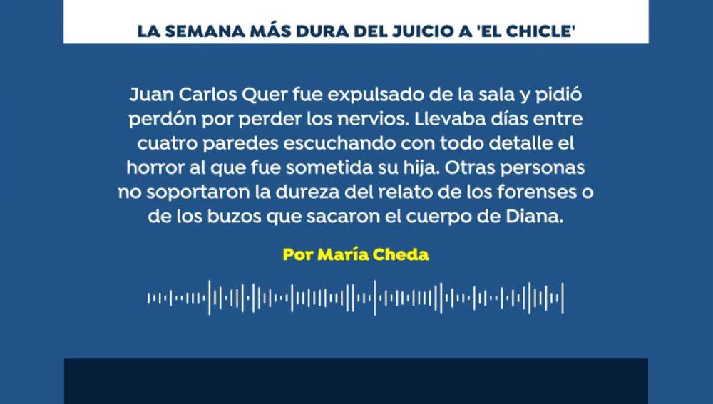 """Podcast Segunda semana del juicio contra 'El Chicle': """"Es difícil, pero nada es imposible"""""""