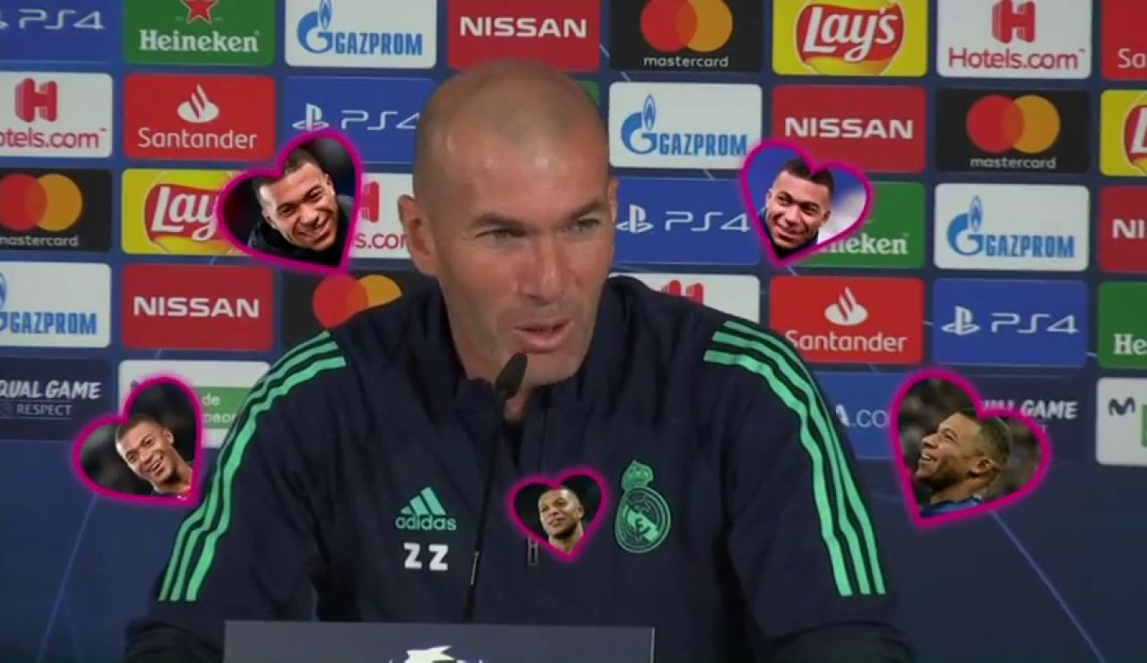 """Zidane, sobre Mbappé: """"Estoy enamorado de él desde hace tiempo"""""""