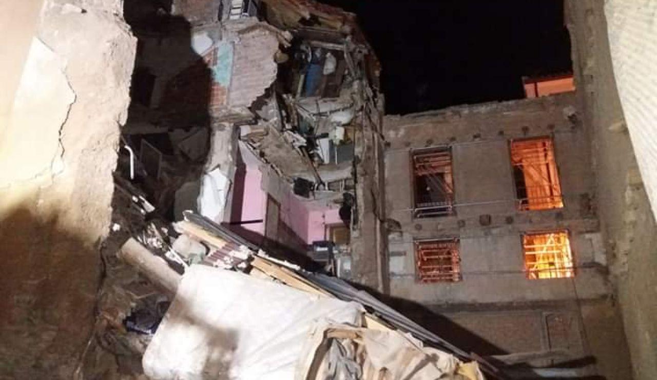 Tres personas, rescatadas tras quedar atrapadas por el derrumbe de parte de su vivienda en Tarazona