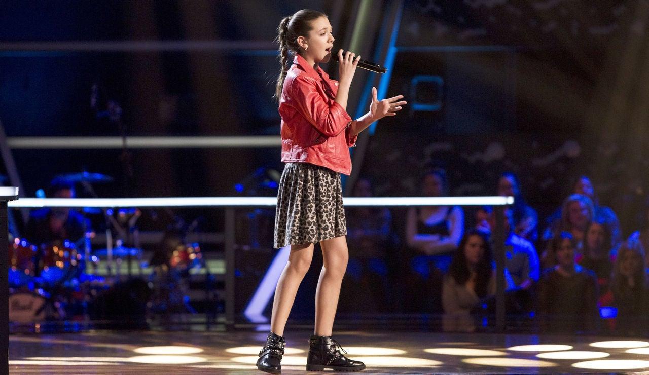 Patricia García canta 'Cai' en los Asaltos de 'La Voz Kids'