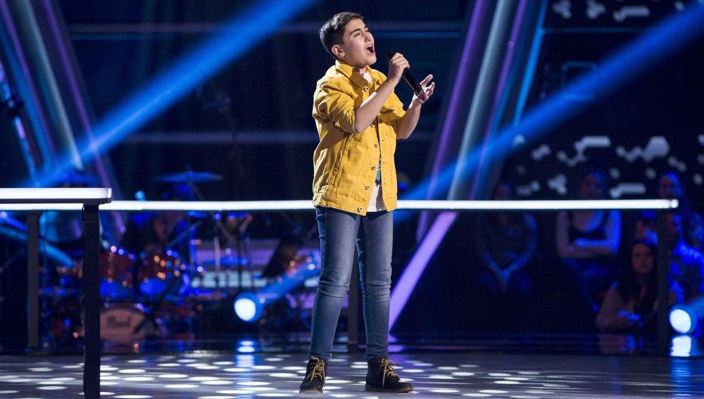 Marcos Díaz canta 'Stone cold' en los Asaltos de 'La Voz Kids'