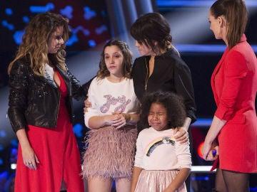 Las lágrimas desgarradoras de Yolaini Viñas y Laura Valle tras no pasar a la Semifinal de 'La Voz Kids'
