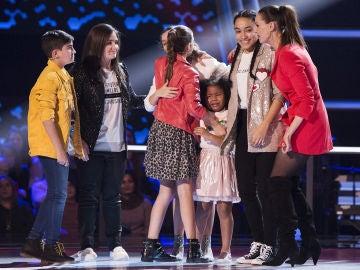 Aysha Bengoetxea, Marcos Díaz, Patricia Aguilar e Isabel Marsal pasan a la Semifinal de 'La Voz Kids'
