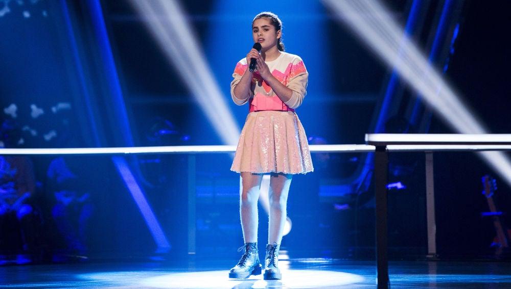 Marta Pérez canta 'You are the reason' en los Asaltos de 'La Voz Kids'