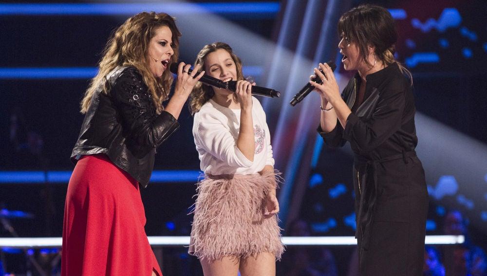 Pastora Soler, Vanesa Martín y Laura Valle cantan 'Perdóname' en los Asaltos de 'La Voz Kids'