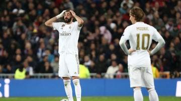 Benzema, en el partido contra el PSG