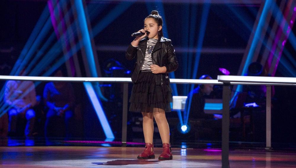 Saira Suárez canta 'Wrecking ball' en los Asaltos de 'La Voz Kids'