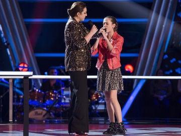 Niña Pastori canta 'Cai' con Patricia García en los Asaltos de 'La Voz Kids'