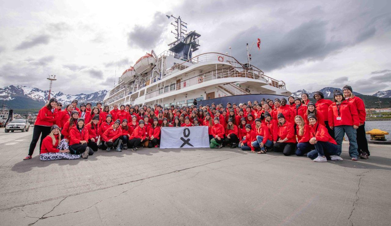 Mujeres rumbo a la Antártida