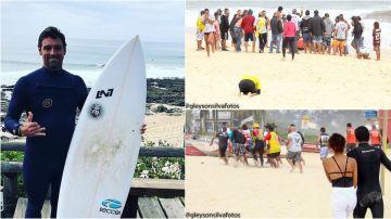 Leo Neves y el momento en el que es sacado del agua